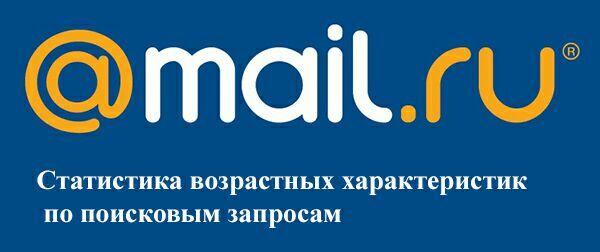 Статистика возрастных характеристик по поисковым запросам mail ru