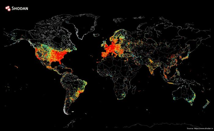 Карта онлайн подключений к Интернету